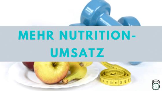 Mehr Nutrition-Umsatz