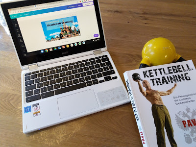 Kettlebell als Lesezeichen
